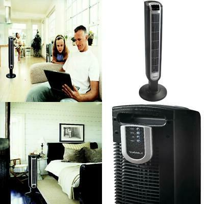 Bladeless Oscillating Tower Fan Cooling Air Conditioner Speed Black
