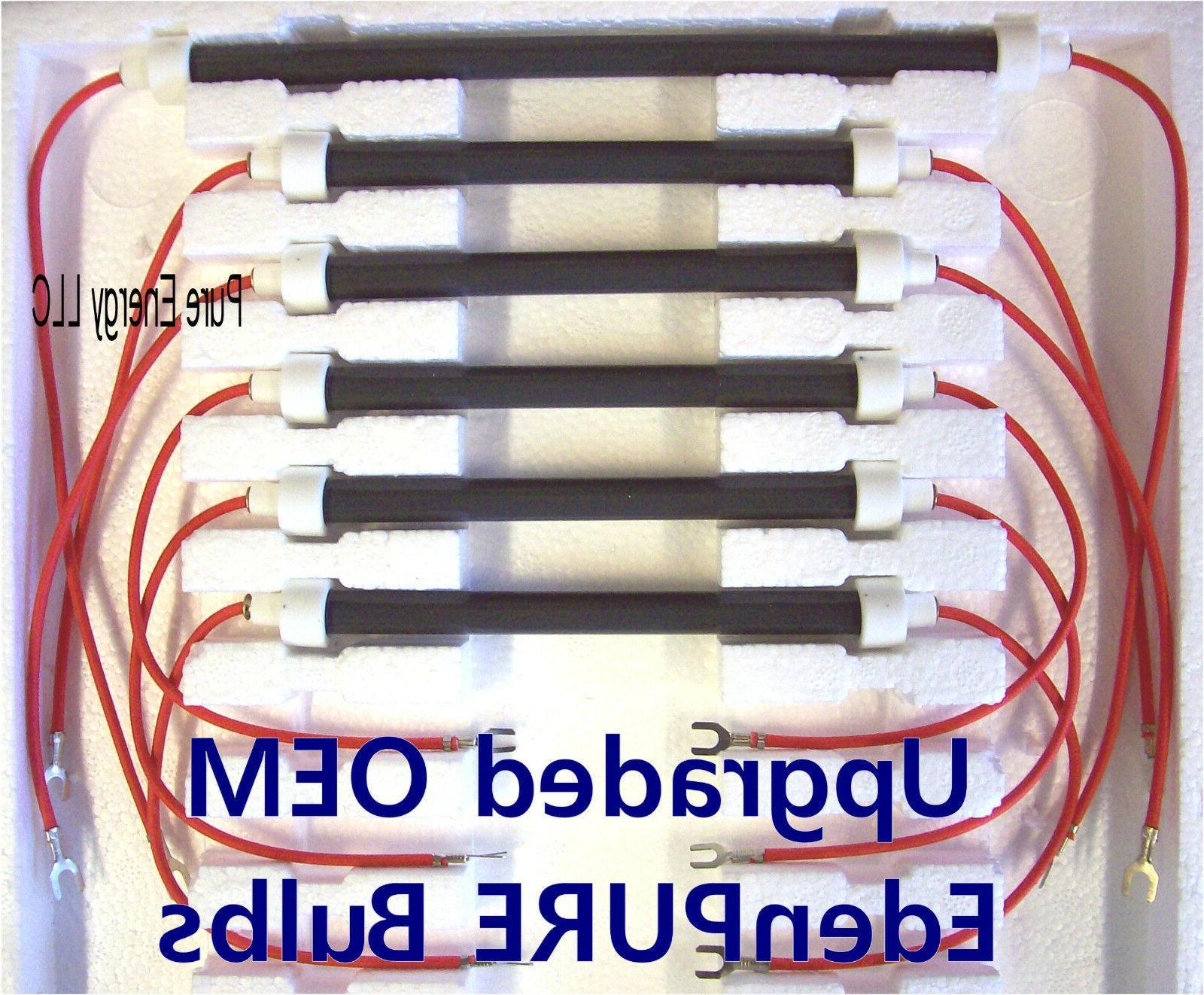 Bulbs - Set of 6 NEW OEM EdenPURE 1000, GEN3 Infrared Heater