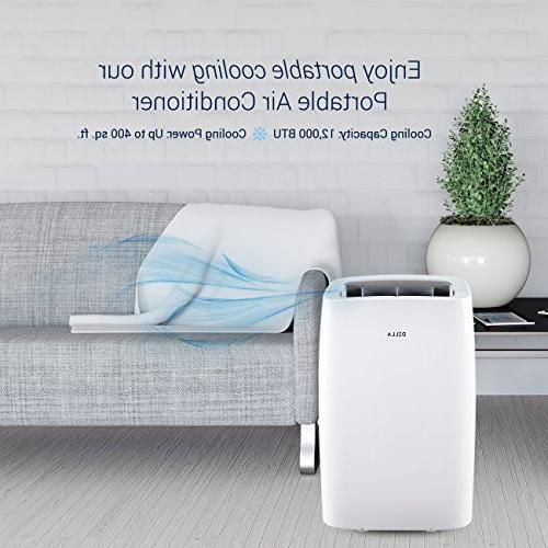 DELLA 12,000 Portable Air Conditioner Cool Dehumidifier for Up 400 Control,