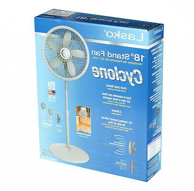 18 stand 3 speed fan with cyclone