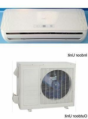 Midea Ductless Split AC 9K BTU, Heat Pump, Heating & Air Con