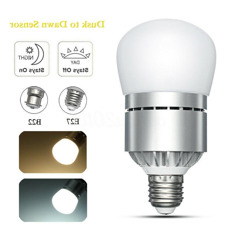 E27/B22 12W Dusk to Dawn Lamp Auto Light Energy Saver