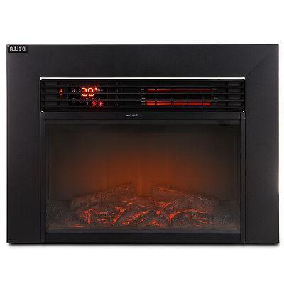 Della© 1500w Electric Heater Glass View w/ Remote