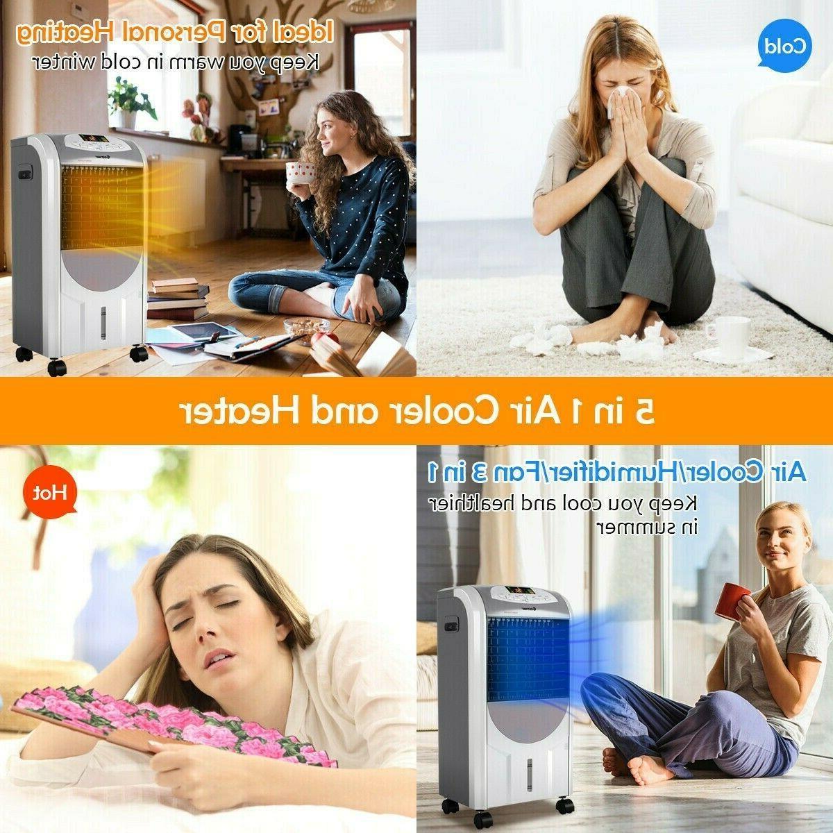 5 in 1 Evaporative Portable Air Cooler Fan & Remote Control