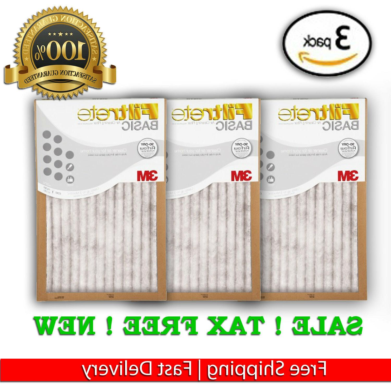 FILTRETE BASIC 3M AIR FURNACE FILTER WHITE PLEATED 3 PACK 9