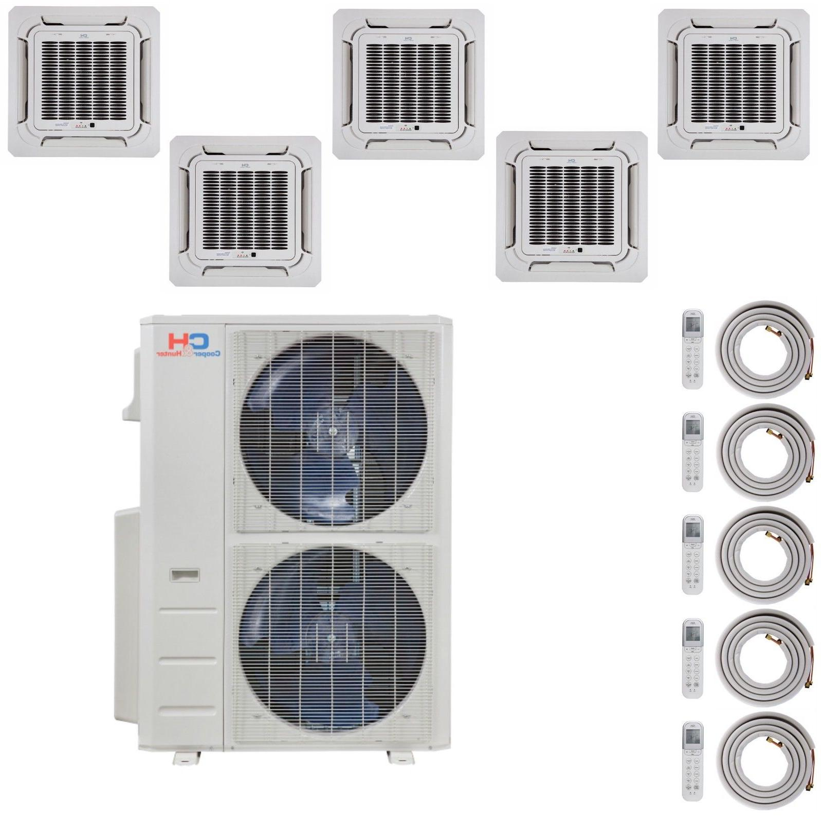 five 5 zone mini split ductless air