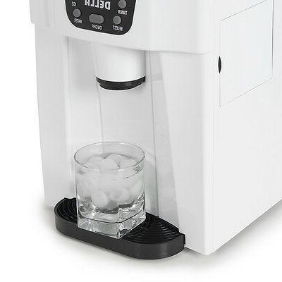 Della© with Ice Machine per day, 2-Size Cube, White