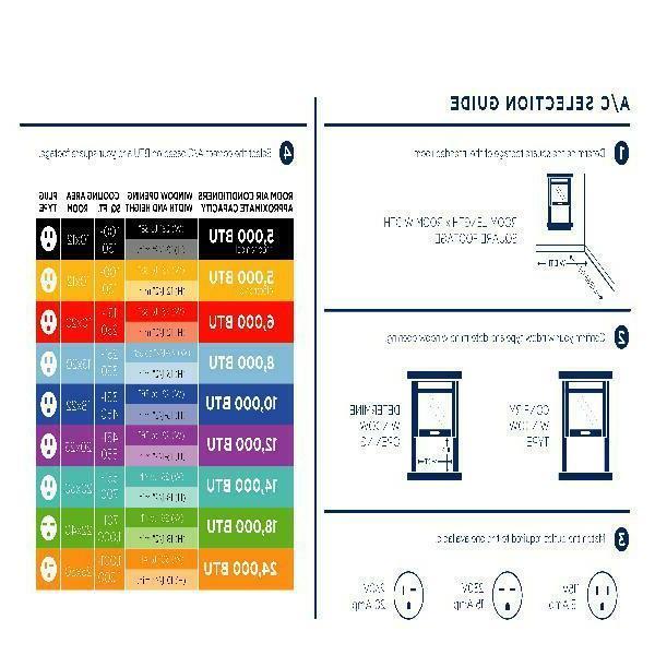 GE 6000 Room Air Conditioner Remote