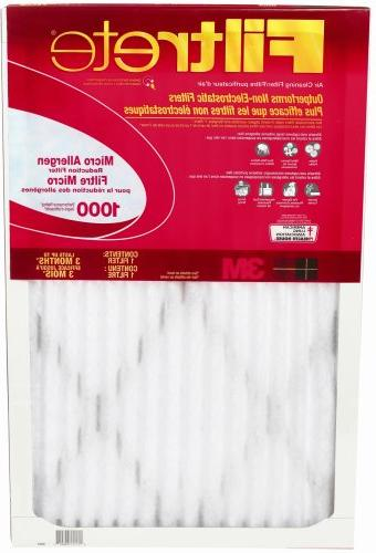 Filtrete Cleaner Home, Airflow to days, 1000, 20 x 25 x 1,