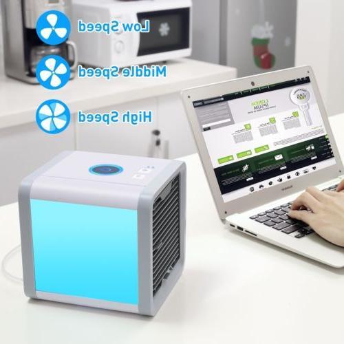 Mini Desktop USB LED Fan Portable Cooler Energy Saving