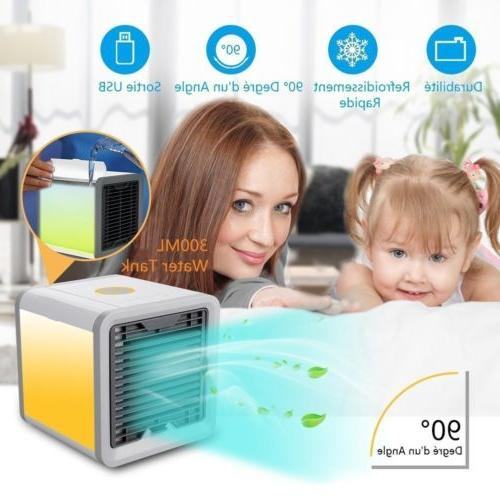 mini desktop air conditioner usb led fan