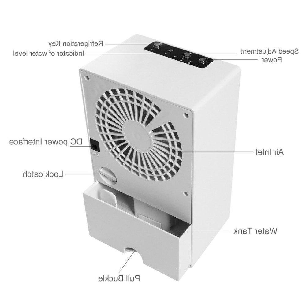 Mini Portable <font><b>Conditioner</b></font> Table Desk Small Home Office Fan Quiet Personal Moisturizing Cooler fan