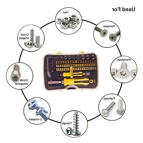 Screwdriver with Bit Electronics Repair Kit for Desktop, Computer, Tablet, Console