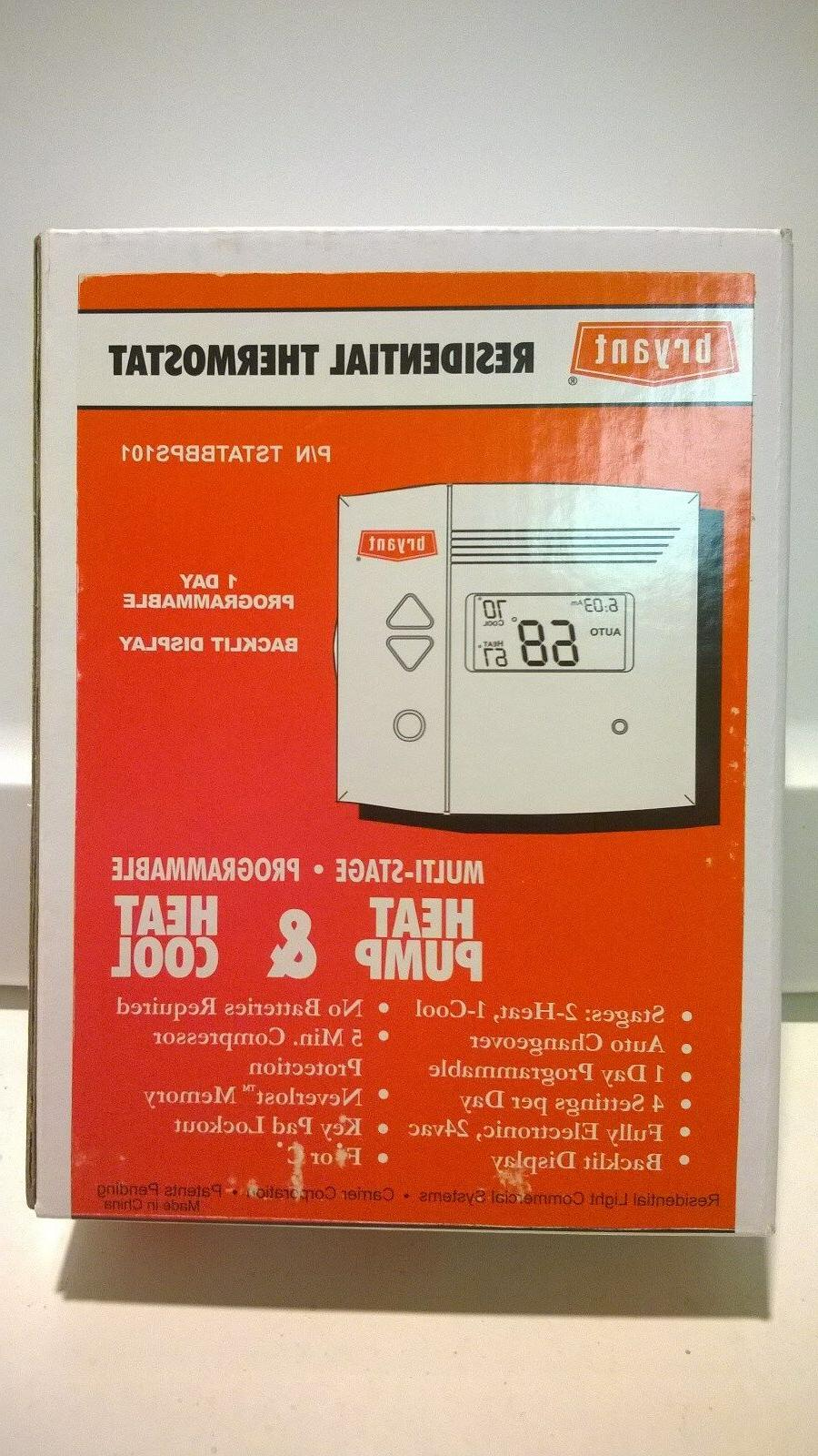 NEW Bryant Programmable HeatPump or HeatCool Thermostat