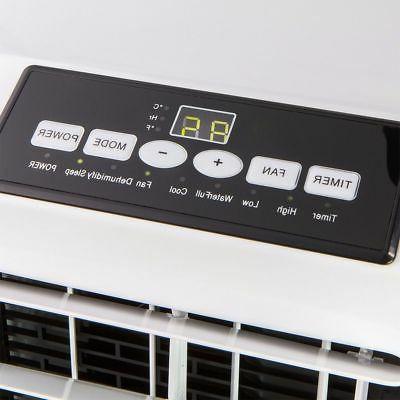 Portable BTU Air Conditioner Dehumidifier Fan A/C White