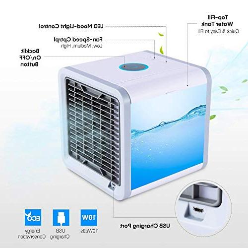 SOLKSHOP Portable Conditioner,3 in 1 Personal Purifier,Air Cooler Speeds Home