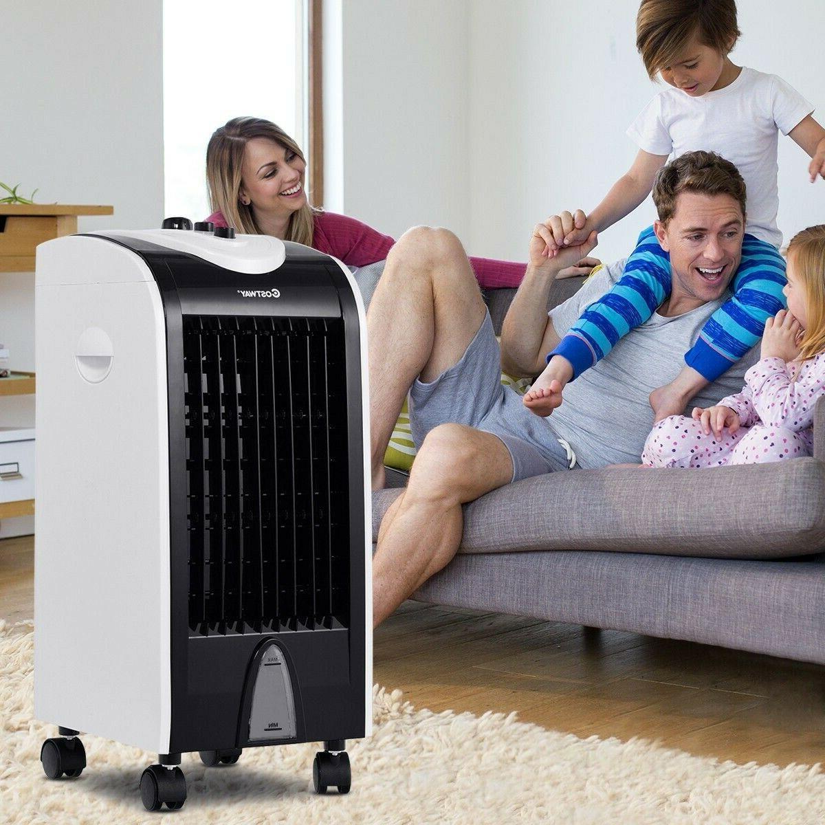 Evaporative Portable Air Conditioner Cooler w Filter Knob Co