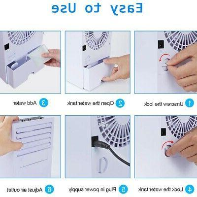 Portable Air Conditioner,Wireless Mini Cooling Humidifier