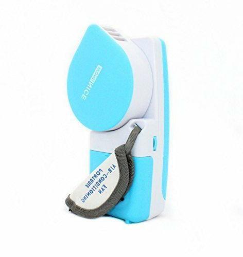 WoneNice Portable Small Fan & Mini-air Conditioner, Runs On