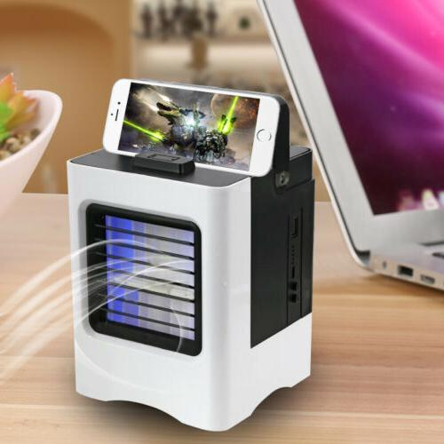 USB Portable Mini Air Conditioner Water Cooling Fan Quiet LE