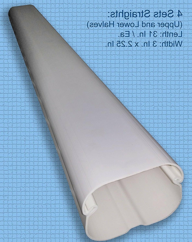 PVC Line Cover Kit Mini Split Air Conditioner Heat Pump