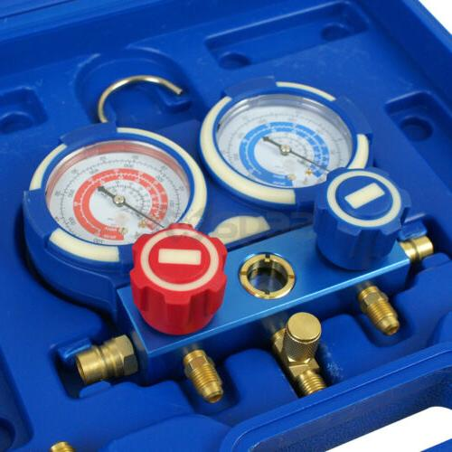 R134a A/C Manifold Gauge 4FT Colored Air Conditioner