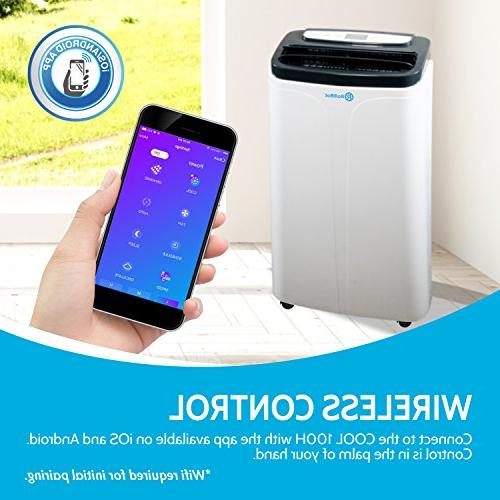 RolliCool 14,000 BTU Portable Air Conditioner AC Unit with Heater, Fan, App