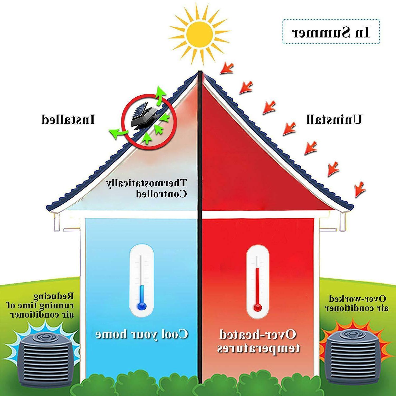 Solar Powered Attic Roof Exhaust 1750 CFM Exhaust Fan