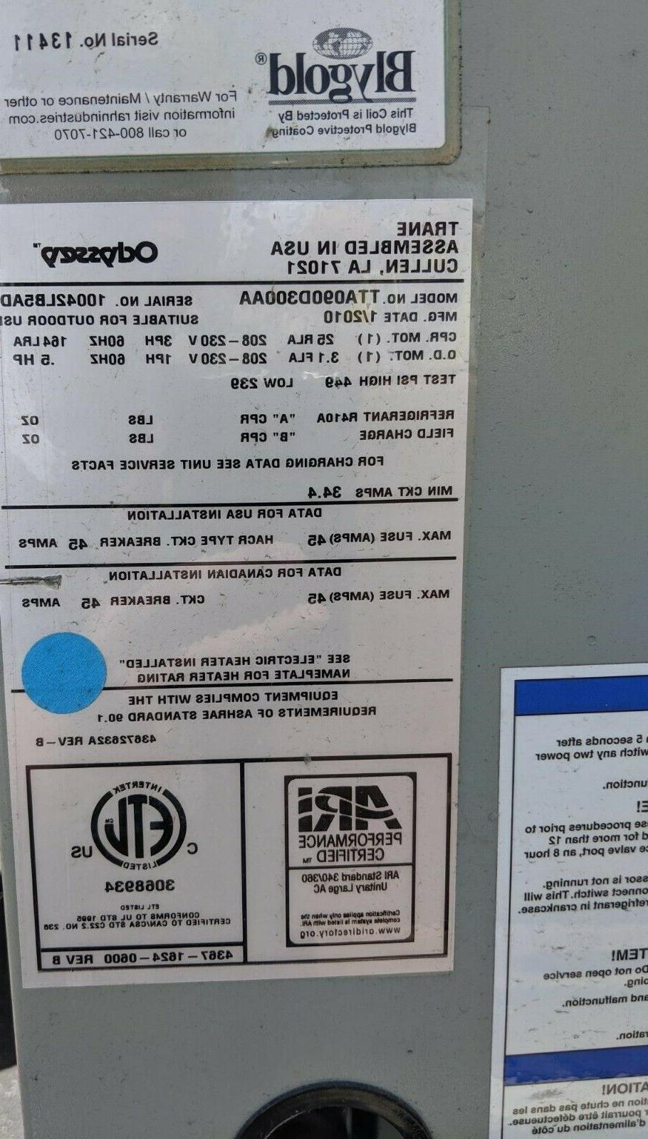 Trane split air conditioner 7.5Ton #TTA090D300A