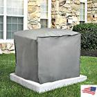 "Square Central Air Conditioner Cover 30"" H x 34""W x 34"" D Gr"