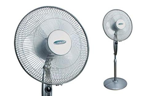 """Soleus Air 16"""" Stand Fan with Remote Control"""