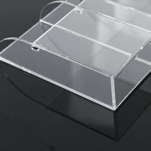 1pc TV Air Conditioner Remote Acrylic Wall Organizer Box US
