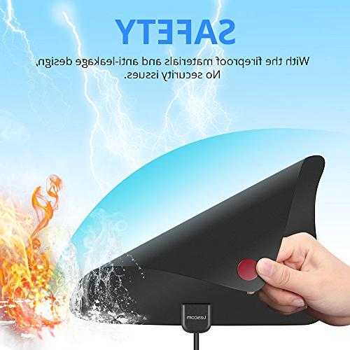 Lesoom 80 TV Antenna Channels Indoor Digital Antenna for 4K VHF UHF with Detachable Ampliflier Booster Reception