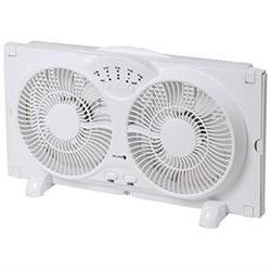 Avalon Twin Window Fan with 9 Inch Blades, High Velocity Rev