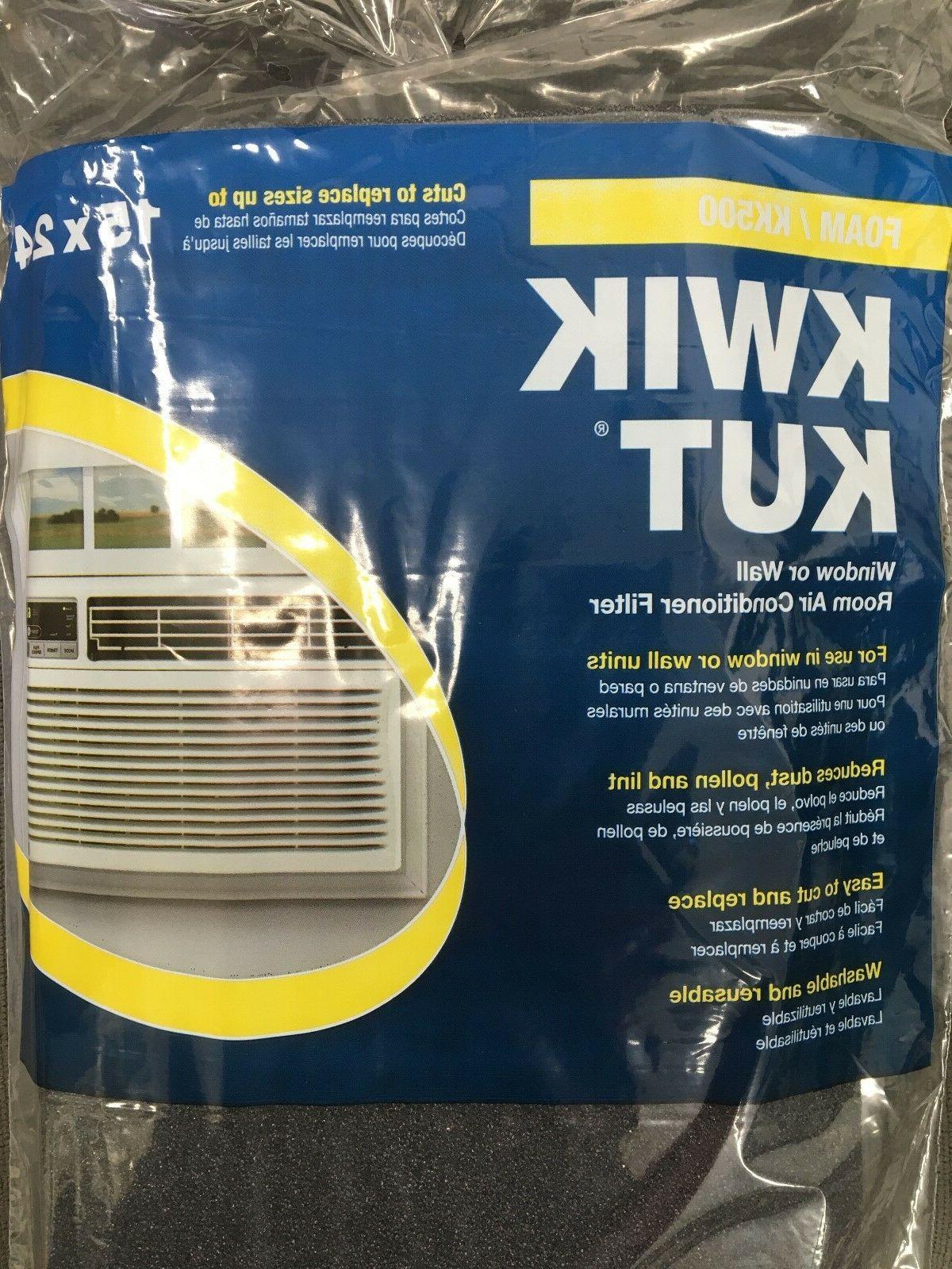 Universal Foam Air Filter Reusable Cut to Fit 15x24x1/4