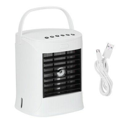 usb mini air conditioner humidification desktop fan
