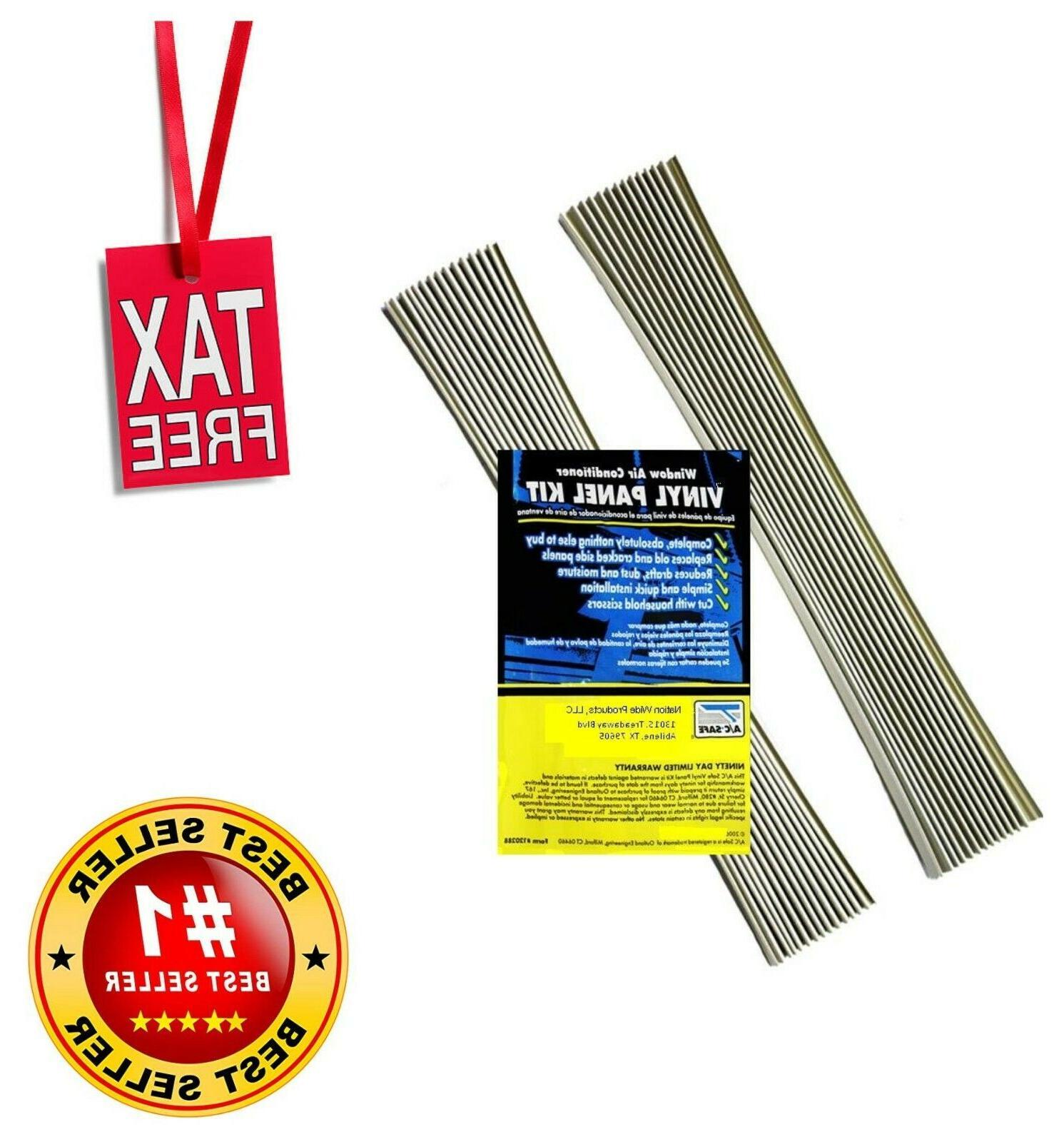 AC Safe Window Air Conditioner Vinyl Side Panel Kit