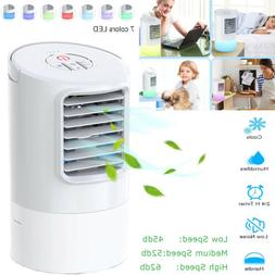 LED Portable Mini Air Conditioner Bedroom Home Desk Water Co