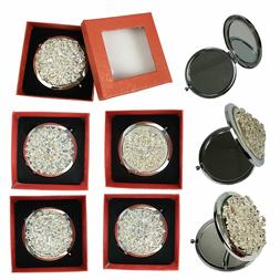 Makeup Cosmetic Compact Mirror with Rhinestones Normal & Mag