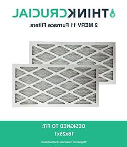 2 16x25x1 MERV 11 Allergen Air Furnace & Air Conditioner Fil