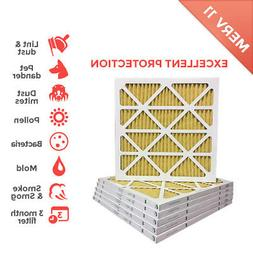 20x25x1 MERV 11  Pleated AC Furnace Air Filter - 6 Pack