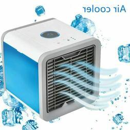 Mini Air Cooler Portable Air Conditioner Fan Cube Desk Bedro
