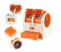 Mini Small Fan Cooling Portable Desktop Dual Bladeless Air C