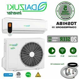 18000 BTU Air Conditioner Mini Split 20 SEER INVERTER AC Duc