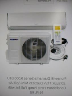 mini split air conditioner heat pump 9000 BTU Pioneer Bran
