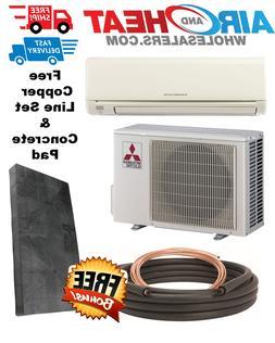 Mitsubishi Mini Split Heat Pump 18K BTU 18 SEER FREE  LINESE