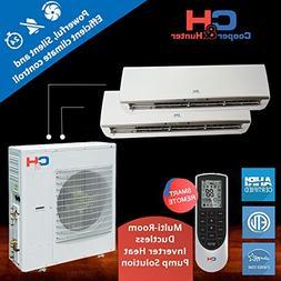 Multi Dual-zone Ductless System 42,000 Btu Inverter Heat Pum