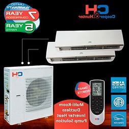 Multi Dual-zone Ductless System 24 000 Btu Inverter Heat Pum