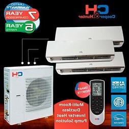 Multi Tri-zone Ductless System 36 000 Btu Inverter Heat Pump