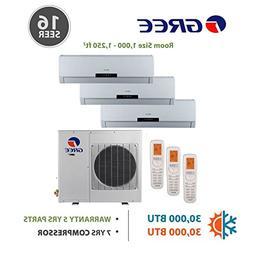 +Multi Zone 30,000 BTU 2.5 Ton Ductless Mini Split Air Condi
